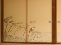はたご客室 松の間 日本海夕景