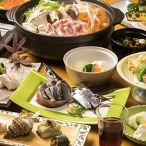 日本料理きらくの献立一例 秋メニューの一例
