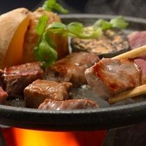 ステーキ陶板焼き一例