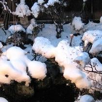 冬の日本庭園(ライトアップ)