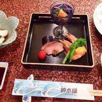 【夕食一例】彩り豊かなな先付け