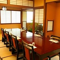 *日本庭園を眺めながらのお食事