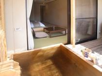 客室露天風呂/露天風呂付き和モダンルーム