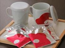 花庵茶(はなのいおりちゃ)とオリジナルマグカップ