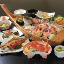 ★舟盛付会席+蟹半身