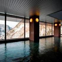 【展望大浴場 黒岳】7階 大浴場