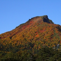 【黒岳山頂の紅葉】