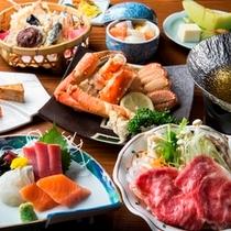 """啄木亭自慢の「こだわり膳」""""函館の旬の味""""をお部屋でゆったりとお楽しみください。"""