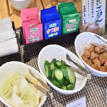 ◆【朝食】『漬物各種』 ※内容は季節等により異なります