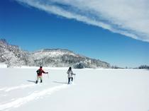 氷結の希望湖スノーシュー