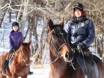 冬の乗馬トレッキング1