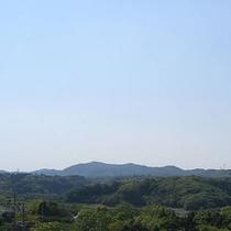 4階の山側のお部屋からの景色です。