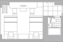 ■ツインルーム/見取図■