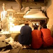 【1F ゆうゆう神社】健康や幸福を祈願する神社があり、自由に参拝できる