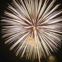 【夏】送り盆まつり 横手市8月15・16日開催。横手城バックに尺玉の大輪は協賛花火。大迫力花火ショ-
