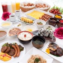 30種類の朝食バイキング
