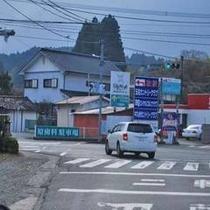 【MAP②】左折後、ずっと443号線を進み、写真の『玉名カントリークラブ』の看板を左折