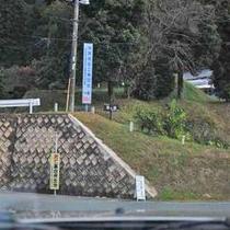 【MAP④】くどいようですが、443号線を進むと写真の『平山温泉』の案内が出るので左折。