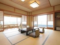 残照/バルコニー展望風呂付12.5帖角部屋の和室です