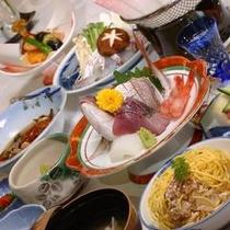 *日本海の幸メインの会席料理