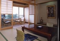 千尋/福浦八景を望む10帖の和室です。