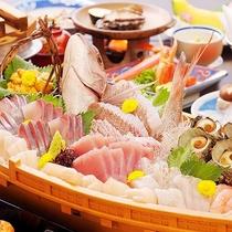 日本海の幸舟盛