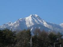 リビングやテラスから一望できる八ヶ岳
