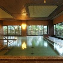 【大浴場/内風呂】「西の河原源泉」と「万代鉱」の混合泉