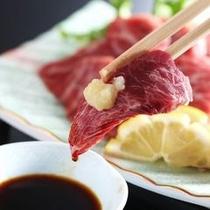 ■夕膳一品/特選馬肉刺身※イメージ