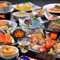 活鮑の陶板焼き付海鮮御膳♪(一例)