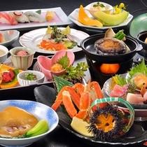 ふかひれ姿煮&活鮑陶板焼き付海鮮御膳(一例)
