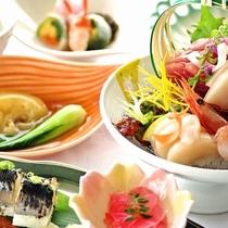 三陸旬彩膳 プラン料理1例