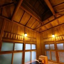 ◇【別邸/菊の間】客室風呂。総ひのき数寄屋造りの贅沢さ