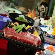 牛の瓦焼き / 白馬郷土和食会席料理プランはコチラ!