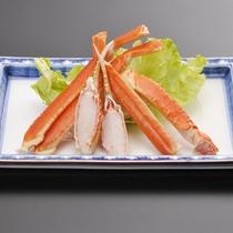*追加でご注文いただける「ずわい蟹」(要予約)海の幸もお愉しみいただけます。