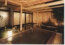 庭園露天風呂石風呂