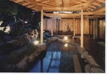 庭園露天風呂岩風呂