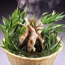 岩魚塩焼き竹籠盛り
