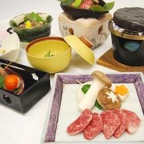 【飛騨牛会席一例】様々なお料理で飛騨牛の旨みを堪能