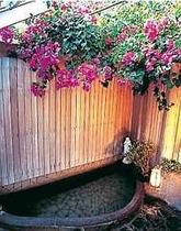 【風呂】ブーゲンビリアに囲まれた温泉お風呂で旅の疲れを癒してください②