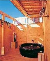 【風呂】ゆったり入れる露天風呂でリフレッシュ