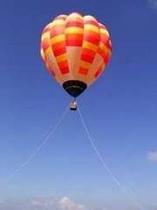 気球から見下ろすニセコのパノラマビュー