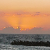 夕日の芸術