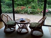 【清風の間】客室専用の檜風呂がついたお部屋でゆっくりとしたひとときをどうぞ
