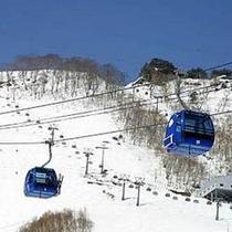 苗場スキー場のゴンドラ