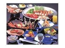 ファミリー御膳をレストランにて(季節の天婦羅・旬のお造りなどがついた贅沢御膳)