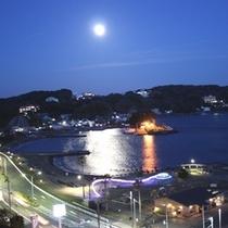下田湾(月明かり)