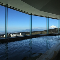 富士山を望む大浴場