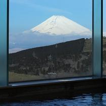 富士山を望める大浴場