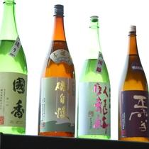 各種日本酒取り揃えております